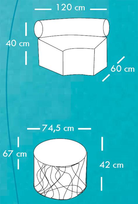 Diagrama sofá Eclipse de Apyou