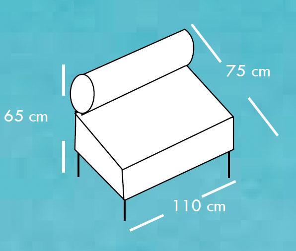 Diagrama sofá Ptolomeo de Apyou