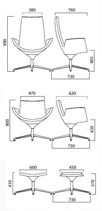 Diagrama sillón Beetle de Infiniti