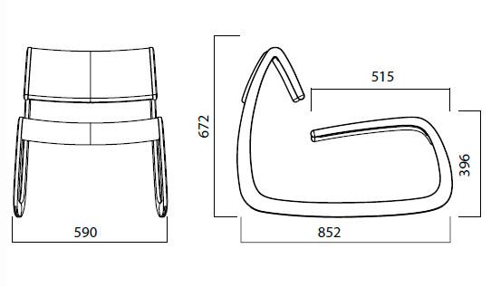 Diagrama sillón G-Chair de Infiniti