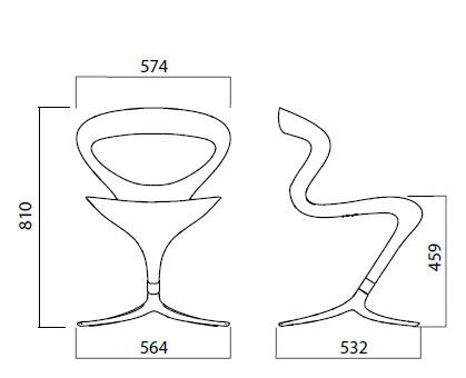 Diagrama silla de diseño Callita de Infiniti