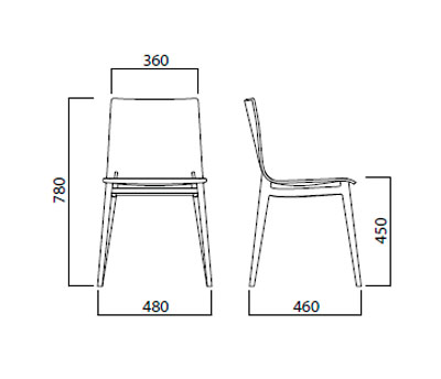Diagrama silla Emma de Infiniti
