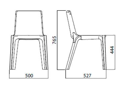 Diagrama silla de diseño Giulitta de Infiniti