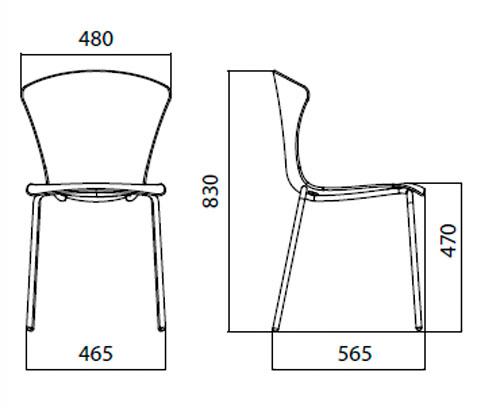 Diagrama silla Glossy de Infiniti