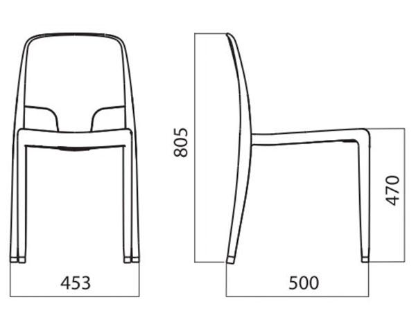 Diagrama silla Margot de Infiniti