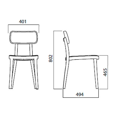Diagrama silla Porta Venezia de Infiniti