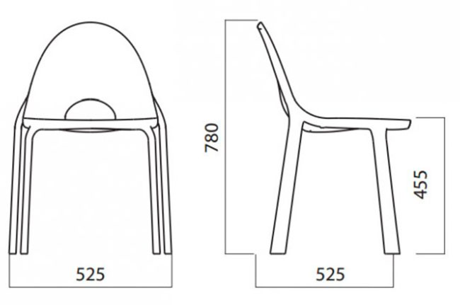 Diagrama silla Drop de Infiniti