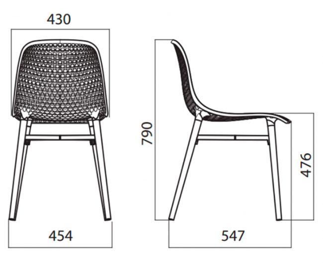 Diagrama silla de jardín Next de Infiniti