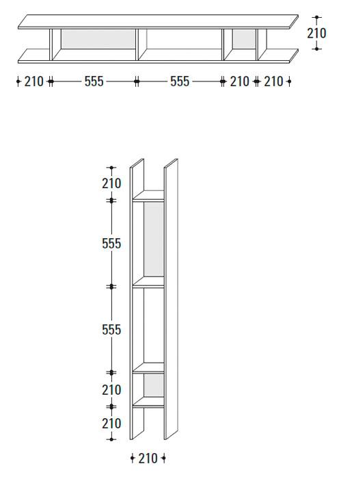 Diagrama estantería Buk de Jesse