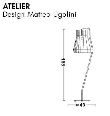 Medidas lámpara de pie Atelier