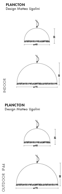 Medidas lámpara Plancton de Karman