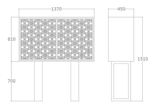 Diagrama aparador de diseño Celosía de Küpu