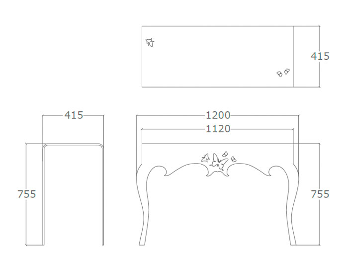 Diagrama consola de diseño Mariposa de Küpu
