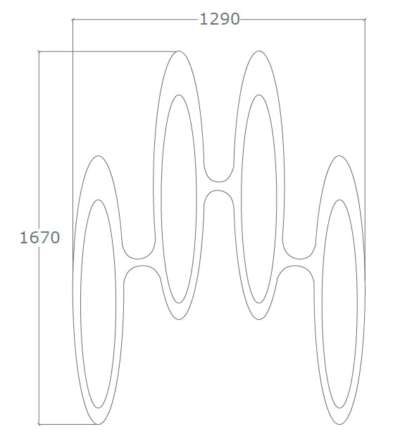 Diagrama espejo de diseño Óvalos de Küpu