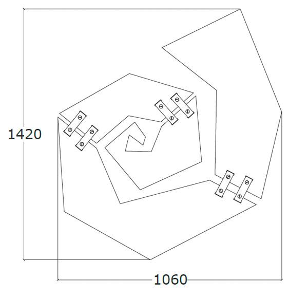 Diagrama mesa de centro Spira de Küpu
