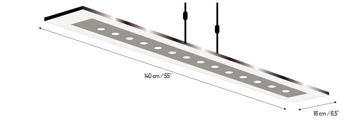 diagrama lmpara de techo fusion led de