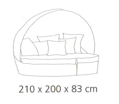 Diagrama tumbona modular Baleares