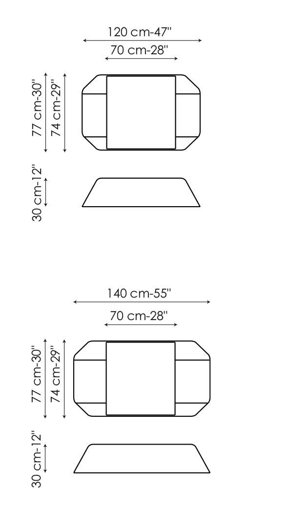 Diferentes medidas de la mesa de centro