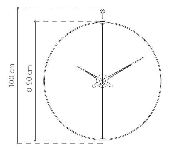 Diagrama reloj de pared Barcelona de Nomon