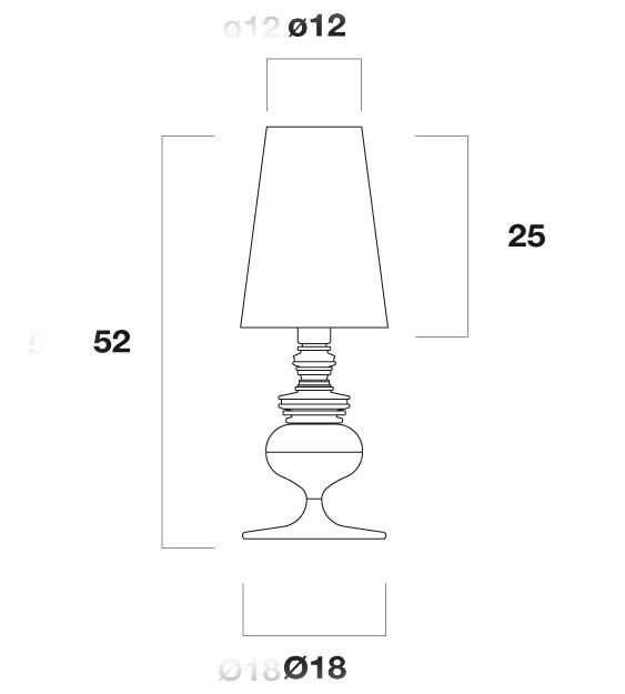 Medidas lámpara Josephine Mini de Metalarte