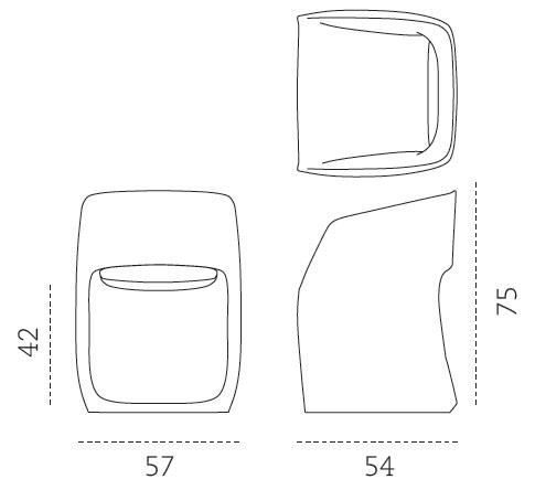 Medidas butaca de exterior Om Mobles 114