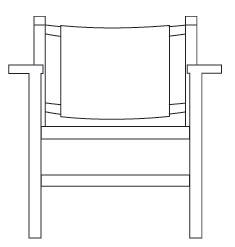 Diagrama butaca de comedor Torres Clavé Mobles 114