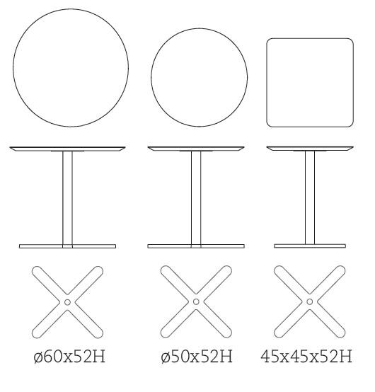 Medidas mesa auxiliar Oxi