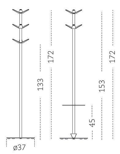 Medidas perchero paragüero Bambú Mobles 114