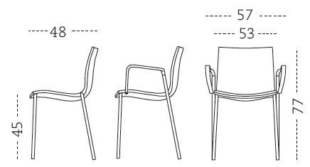 Silla de comedor gimlet mobles 114 for Medidas silla comedor