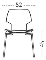 Medidas silla de comedor Gràcia Mobles 114