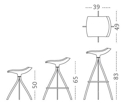 Taburete de cocina gimlet mobles 114 for Medidas banco cocina