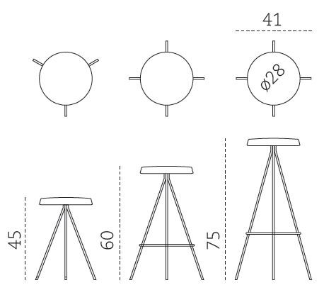 Medidas taburete Nuta Mobles 114
