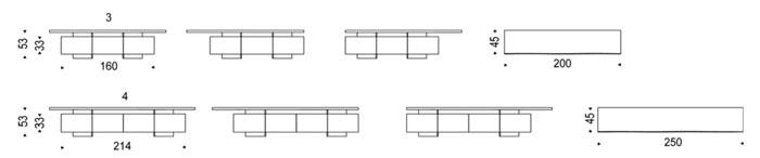 Diagrama mueble de televisión Seneca de Cattelan Italia