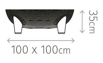 Diagrama de medidas mesa martinica.