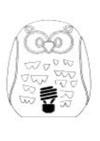 Diagrama lámpara de mesa Gufo de New Garden