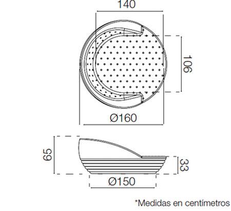 Diagrama tumbona Formentera de New Garden