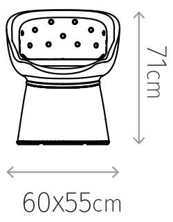 Diagrama de medidas silla Mallorca
