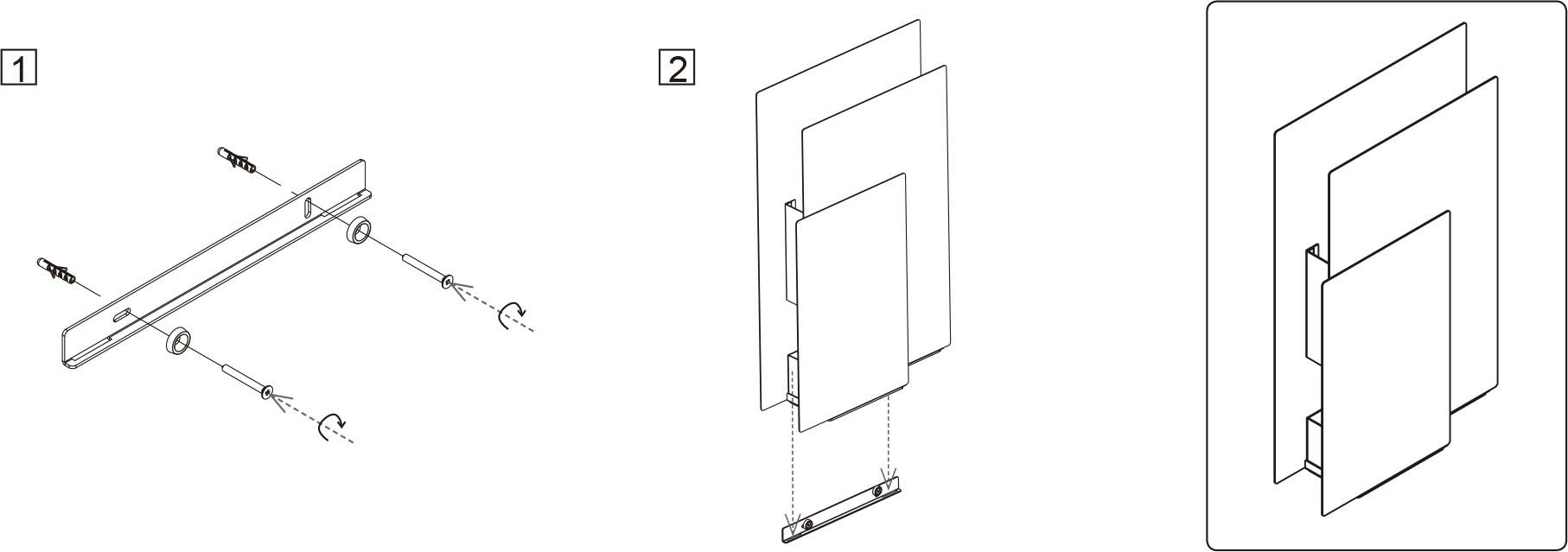 Instrucciones de montaje a pared paragüero Sou