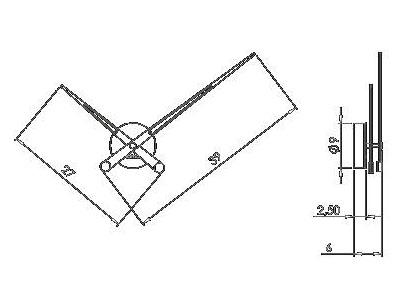 Medidas reloj de pared moderno Axioma i Nomon