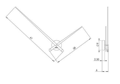 Medidas reloj moderno de pared Axioma de Nomon