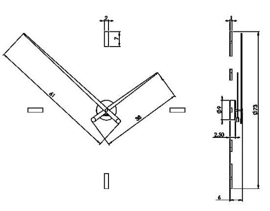 Medidas reloj moderno de pared Tacón 4L de Nomon