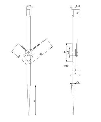 Medidas reloj de pared Péndulo de Nomon