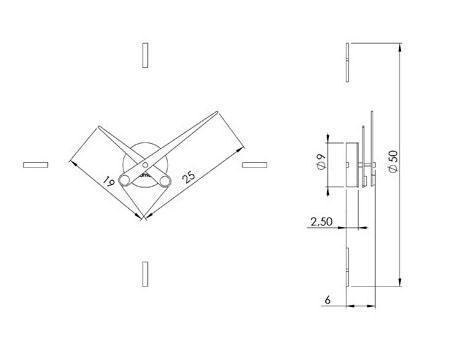 Medidas reloj de pared Puntos Suspensivos 4i Nomon