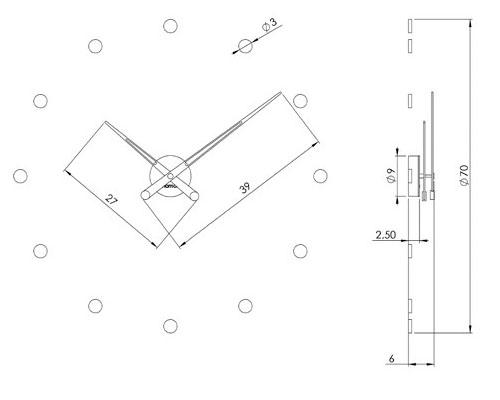 Medidas reloj de pared Rodón 12i Nomon