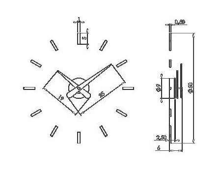 Medidas reloj de pared Sunset Nomon