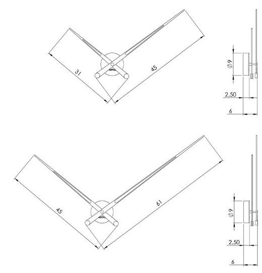 Medidas reloj de pared de madera Axioma n Nomon