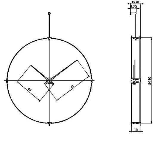 Medidas reloj de pared de madera Délmori Nomon