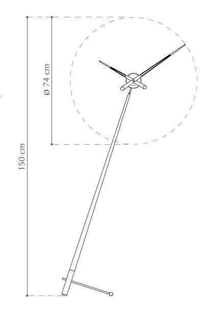 Diagrama reloj de pie Pisa de Nomon