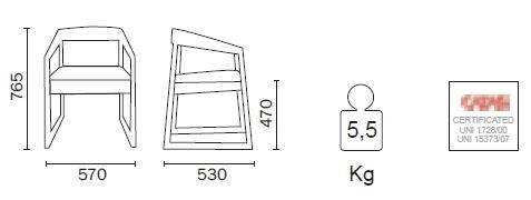 Diagrama de sillón Sign de Pedrali