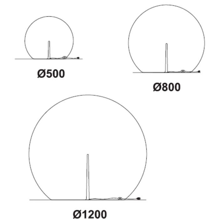 Diagrama lámpara de pie Happy Apple de Pedrali
